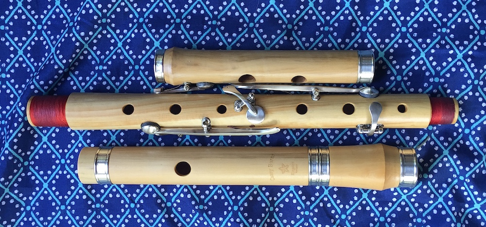 [photo of my 4 way combo low flute in blackwood with rings and slide]