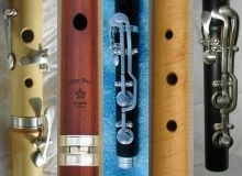 [collage illustration of assorted flute details: key work, keless, head joint, foot joint, curly boxwood]