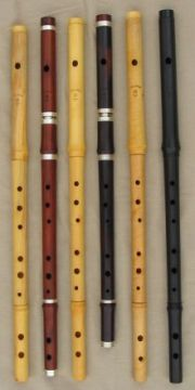 [Photo of Casey Burns Keyless Wooden Flutes]