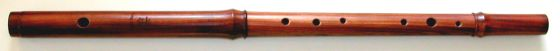 [Photo of Casey Burns keyless Small-Handed Flute in mopane]